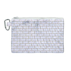 Brick1 White Marble & Sand (r) Canvas Cosmetic Bag (large)