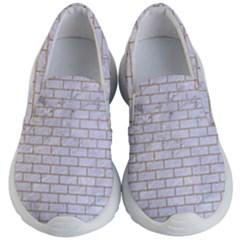 Brick1 White Marble & Sand (r) Kid s Lightweight Slip Ons