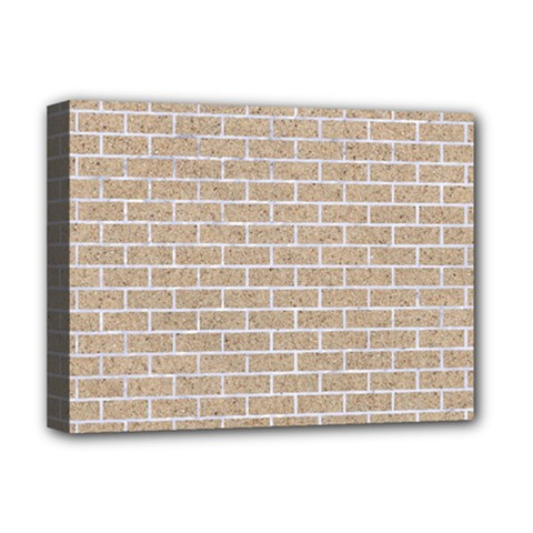 Brick1 White Marble & Sand Deluxe Canvas 16  X 12   by trendistuff