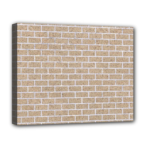 Brick1 White Marble & Sand Deluxe Canvas 20  X 16