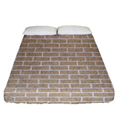 Brick1 White Marble & Sand Fitted Sheet (queen Size)