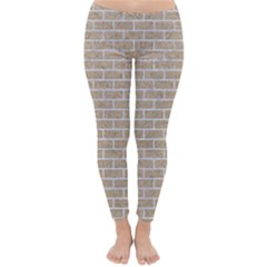 Brick1 White Marble & Sand Classic Winter Leggings