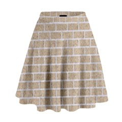 Brick1 White Marble & Sand High Waist Skirt