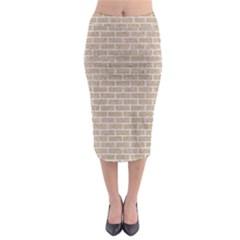 Brick1 White Marble & Sand Midi Pencil Skirt
