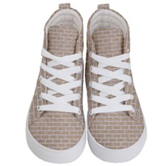 Brick1 White Marble & Sand Kid s Hi Top Skate Sneakers
