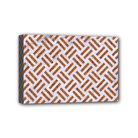 WOVEN2 WHITE MARBLE & RUSTED METAL (R) Mini Canvas 6  x 4