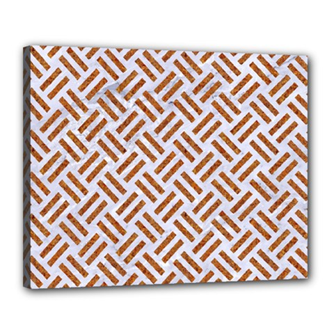 WOVEN2 WHITE MARBLE & RUSTED METAL (R) Canvas 20  x 16