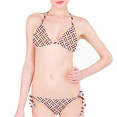 WOVEN2 WHITE MARBLE & RUSTED METAL (R) Bikini Set