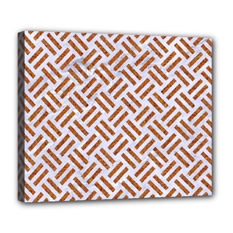 WOVEN2 WHITE MARBLE & RUSTED METAL (R) Deluxe Canvas 24  x 20