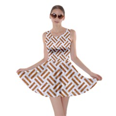 WOVEN2 WHITE MARBLE & RUSTED METAL (R) Skater Dress
