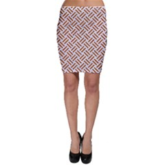 WOVEN2 WHITE MARBLE & RUSTED METAL (R) Bodycon Skirt
