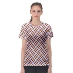 WOVEN2 WHITE MARBLE & RUSTED METAL (R) Women s Sport Mesh Tee