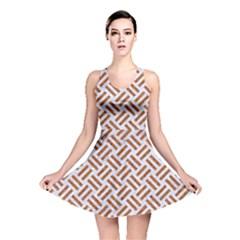WOVEN2 WHITE MARBLE & RUSTED METAL (R) Reversible Skater Dress