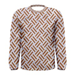 WOVEN2 WHITE MARBLE & RUSTED METAL (R) Men s Long Sleeve Tee