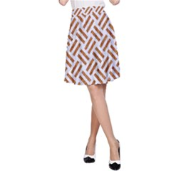 WOVEN2 WHITE MARBLE & RUSTED METAL (R) A-Line Skirt