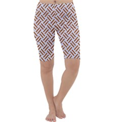 WOVEN2 WHITE MARBLE & RUSTED METAL (R) Cropped Leggings