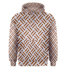 WOVEN2 WHITE MARBLE & RUSTED METAL (R) Men s Pullover Hoodie