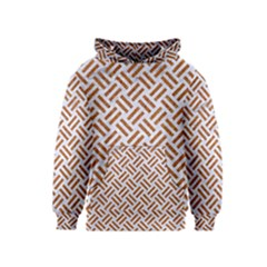 WOVEN2 WHITE MARBLE & RUSTED METAL (R) Kids  Pullover Hoodie