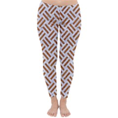 WOVEN2 WHITE MARBLE & RUSTED METAL (R) Classic Winter Leggings