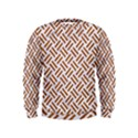 WOVEN2 WHITE MARBLE & RUSTED METAL (R) Kids  Sweatshirt View1