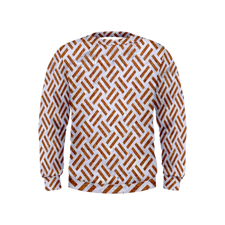 WOVEN2 WHITE MARBLE & RUSTED METAL (R) Kids  Sweatshirt