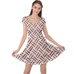 WOVEN2 WHITE MARBLE & RUSTED METAL (R) Cap Sleeve Dress