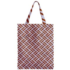 WOVEN2 WHITE MARBLE & RUSTED METAL (R) Zipper Classic Tote Bag