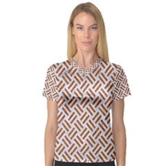 WOVEN2 WHITE MARBLE & RUSTED METAL (R) V-Neck Sport Mesh Tee