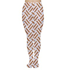 WOVEN2 WHITE MARBLE & RUSTED METAL (R) Women s Tights
