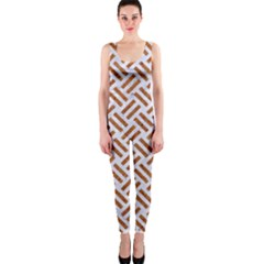 WOVEN2 WHITE MARBLE & RUSTED METAL (R) One Piece Catsuit