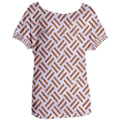 WOVEN2 WHITE MARBLE & RUSTED METAL (R) Women s Oversized Tee