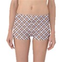 WOVEN2 WHITE MARBLE & RUSTED METAL (R) Boyleg Bikini Bottoms View1