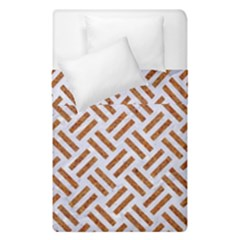 WOVEN2 WHITE MARBLE & RUSTED METAL (R) Duvet Cover Double Side (Single Size)