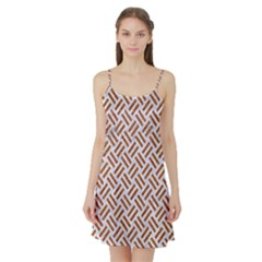 WOVEN2 WHITE MARBLE & RUSTED METAL (R) Satin Night Slip