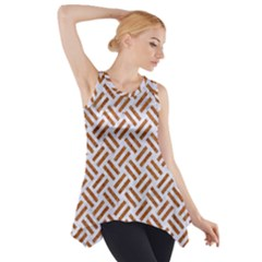 WOVEN2 WHITE MARBLE & RUSTED METAL (R) Side Drop Tank Tunic