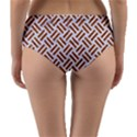 WOVEN2 WHITE MARBLE & RUSTED METAL (R) Reversible Mid-Waist Bikini Bottoms View2