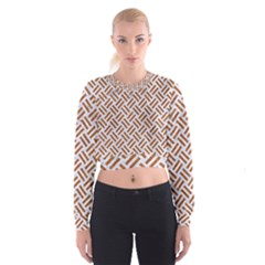 WOVEN2 WHITE MARBLE & RUSTED METAL (R) Cropped Sweatshirt