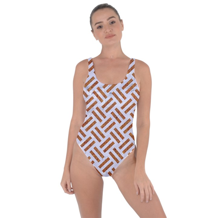 WOVEN2 WHITE MARBLE & RUSTED METAL (R) Bring Sexy Back Swimsuit