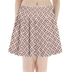WOVEN2 WHITE MARBLE & RUSTED METAL (R) Pleated Mini Skirt