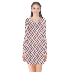 WOVEN2 WHITE MARBLE & RUSTED METAL (R) Flare Dress