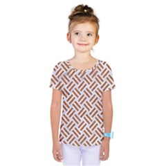 Woven2 White Marble & Rusted Metal (r) Kids  One Piece Tee