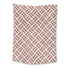 WOVEN2 WHITE MARBLE & RUSTED METAL (R) Medium Tapestry