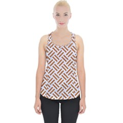 WOVEN2 WHITE MARBLE & RUSTED METAL (R) Piece Up Tank Top