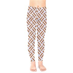 WOVEN2 WHITE MARBLE & RUSTED METAL (R) Kids  Legging