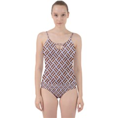 WOVEN2 WHITE MARBLE & RUSTED METAL (R) Cut Out Top Tankini Set