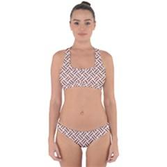 WOVEN2 WHITE MARBLE & RUSTED METAL (R) Cross Back Hipster Bikini Set