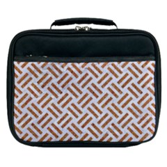 WOVEN2 WHITE MARBLE & RUSTED METAL (R) Lunch Bag