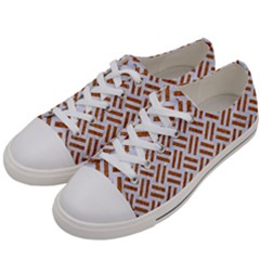 WOVEN2 WHITE MARBLE & RUSTED METAL (R) Women s Low Top Canvas Sneakers