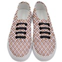WOVEN2 WHITE MARBLE & RUSTED METAL (R) Women s Classic Low Top Sneakers View1