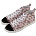WOVEN2 WHITE MARBLE & RUSTED METAL (R) Men s Mid-Top Canvas Sneakers View2